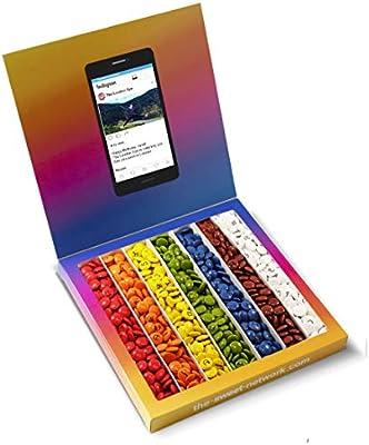Caja golosinas Instagram 23x23cm con mensaje personalizado, su ...