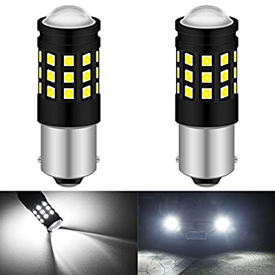 KATUR 1156 BA15S P21W 1141 1095 LED Bulb High Power 3030 Chips Extremely Bright 2700 Lumens Replace for Brake Light Turn Signals Bulbs Reverse Tail Lights,6500K Xenon White (Pack of 2): Automotive