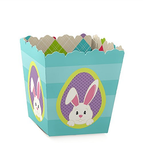 Hoppity Bunny - Big Dot of Happiness Hippity Hoppity - Party Mini Favor Boxes - Easter Bunny Party Treat Candy Boxes - Set of 12