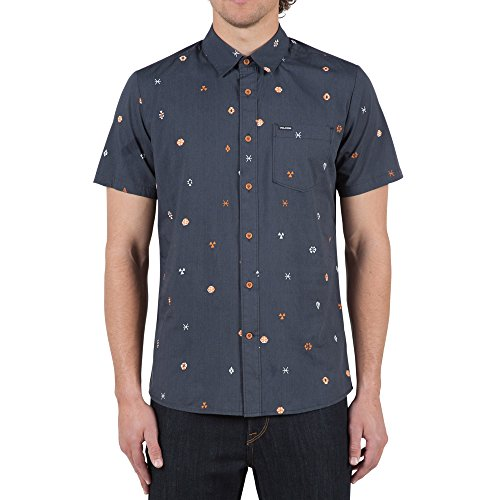 volcom-mens-blazier-short-sleeve-shirt-black-m