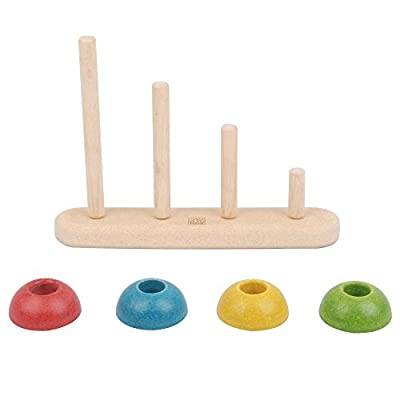 PlanToys Wooden Sort & Count Educational Toy (5614) | Sustainably Made from Rubberwood and Non-Toxic Paints and Dyes: Toys & Games