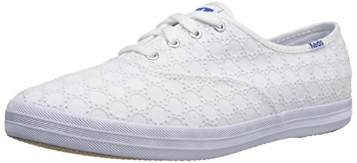 Keds CH EYELET WHITE, Chaussures à lacets femme, Blanc - Blanc, 39