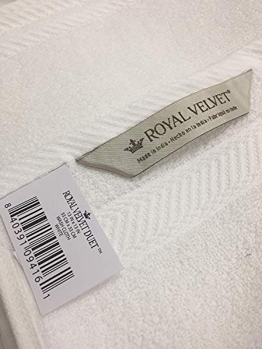 Royal Velvet Bath - Royal Velvet 100% Cotton Washcloths - Set of 6 - Pewter