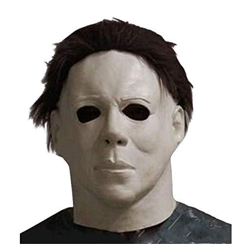 Michael Myers Mask Latex Full Head Halloween Deluxe Adult Size Fancy Dress Masks ()