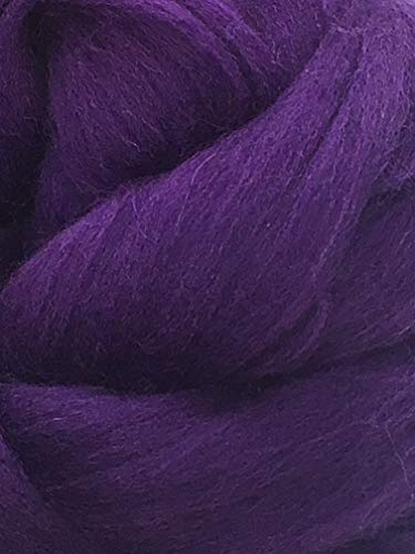 Purple Grape Wool Top Roving Fiber Spinning, Felting Crafts USA (1lb) by Shep's Wool (Image #4)