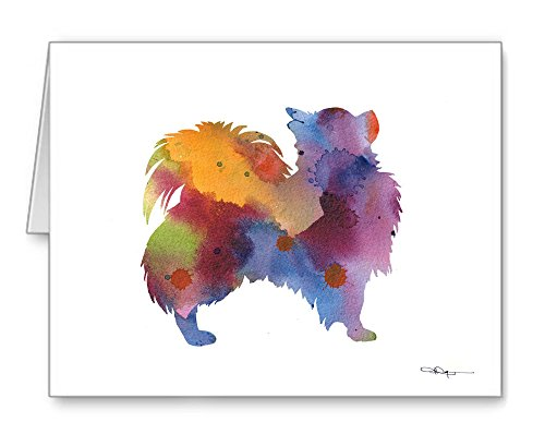 Long Coat Chihuahua - Set of 10 Note Cards With Envelopes