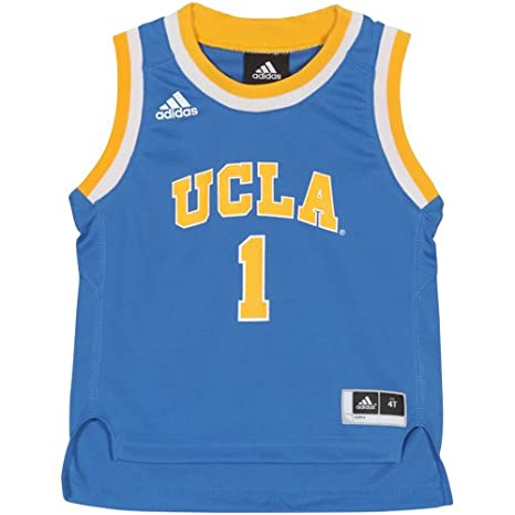 best service 19d86 ac80b adidas UCLA Bruins NCAA Light Blue Official #1 Road Basketball Jersey  Toddler