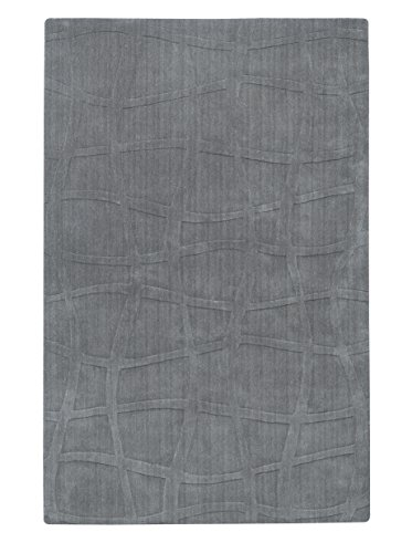 Candice Olson by Surya Sculpture SCU-7506 Transitional Hand Loomed 100% Wool Gray 5' x 8' Area Rug (Surya 8' Round Sculpture)