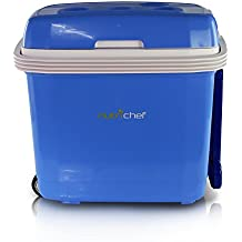 NutriChef Portable Electric Cooler Fridge / Food Warmer, 35 Can - 32L Capacity | Personal Thermoelectric Dual Cooling Warming Digital Plug In Refrigerator for Car, Travel, Beach, Office