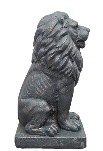 "TIAAN 28"" Lion King Concrete Statues Garden Statue Decor Lion Sculptures Outdoor Indoor Ornament Home Patio Large Figurines by TIAAN (Image #2)"
