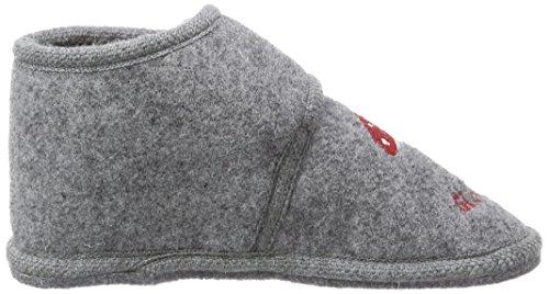 Adelheid Glückspilz Filzriegelschuh - Zapatillas de estar por casa de lana para niño gris - Grau (mausgrau / 940)