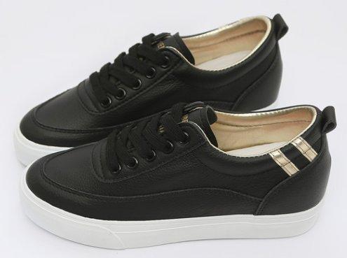 Aisun Damen Fashionable Runde Zehe Low-Top Niedrig Keilabsatz Schnürsenkel Sneakers Schwarz 37 EU tRVPw1X4