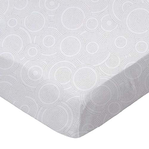 SheetWorld Fitted Sheet (Fits BabyBjorn Travel Crib Light) - Grey Multi Circles - Made In USA