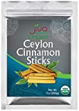 "Organic True Ceylon Cinnamon Sticks 7oz (200g) - Approx 45 sticks - 3"" Quills, Fair Trade, Gluten Free, Non-GMO From Sri Lanka - by Jiva Organics"