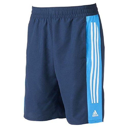 BIG&TALL Men's adidas Colorblock Microfiber Volley Swim Trunks (Adidas Microfiber Shorts)