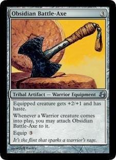 (Magic: the Gathering - Obsidian Battle-Axe - Morningtide)