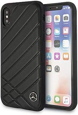 Mercedes Benz iPhone X – por CG Funda para – Negro teléfono Celular Funda de Piel | fácilmente accesible Puertos | con Licencia Oficial.: Amazon.es: Electrónica