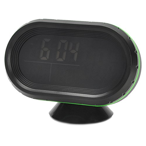 AVOLUTION Black + Green ABS plastic Car 2.5'' LCD Clock/Thermometer/Battery Voltmeter by AVOLUTION (Image #6)