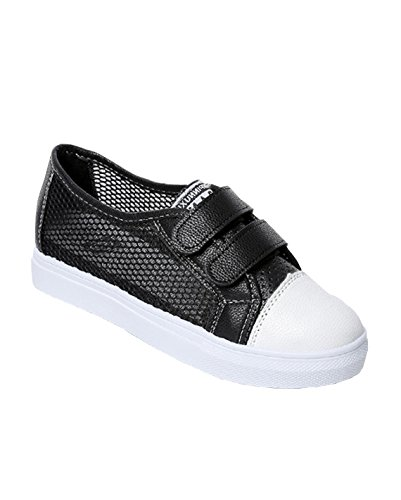 VECJUNIA Ladies Summer Breathable Mesh Trainers Lightweight Walking Casual Shoes Black HB94b7nC