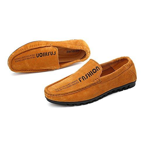 uomo Mocassini Dimensione shoes da Mocassini Mocassini Color Shufang EU 2018 eleganti da piatti casual dietro Scarpe Mocassini morbidi guida elastico 38 Uomo Marrone Da con da barca xYdWdnPqwS