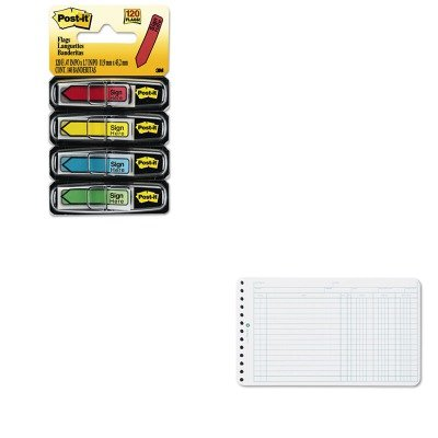 KITMMM684SHWLJ75850 - Value Kit - Wilson Jones Extra Sheets for Six-Ring Ledger Binder (WLJ75850) and Post-it Arrow Message 1/2amp;quot; Flags (MMM684SH) ()