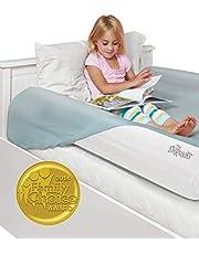 The Shrunks aufblasbarer Bettrand Doppelpack - zweifacher Rausfallschutz für Kinder ab 2 Jahren -Für zwei Bettseiten, Zu Hause oder auf Reisen, Weiß, 122x18x5 cm