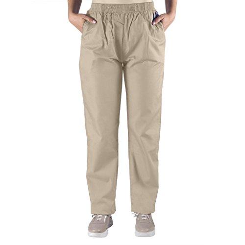 Nurse Scrubs for Men & Women: Unisex Medical Nursing Pants XL Khaki