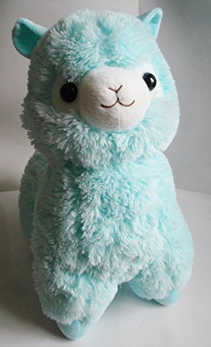 18-LARGE-Alpaca-Llama-Plush-Toy-Doll-TEAL-US-SELLER