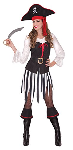 [Amscan Adult Women's High Sea Sweetheart Pirate Costume Medium] (Fun Cheap Easy Halloween Costumes)