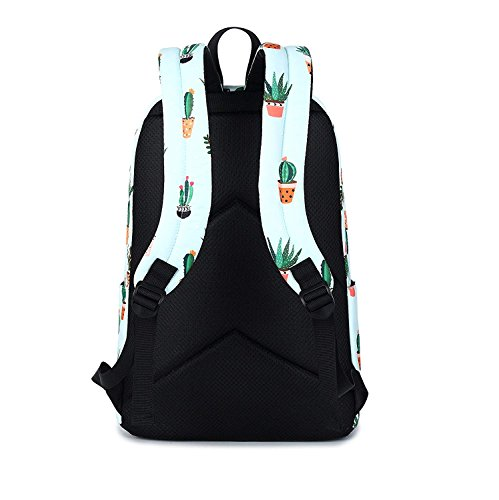 Backpack Teenage Backpack Purse Print ZHANGQIAN Backpackleisure School Girls Cactus For Women wqpaTpSX