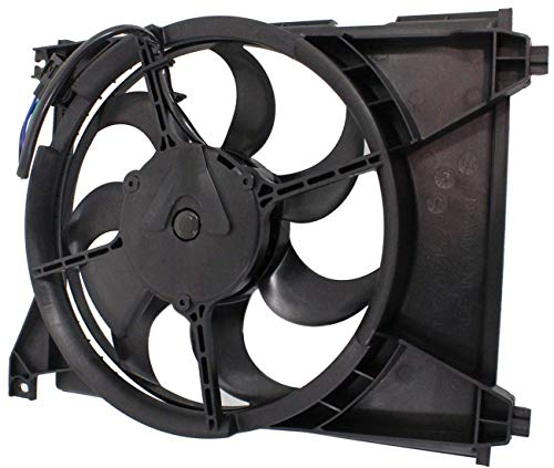 TOPAZ 97730-38000 A/C Condenser Radiator Cooling Fan Assembly for Hyundai Sonata 1999-2004 Kia Optima 2001-2006