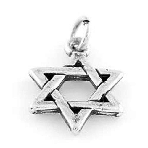 Sterling Silver Jewish Star of David Charm Pendant Jewelry Making Supply Pendant Bracelet DIY Crafting by Wholesale -