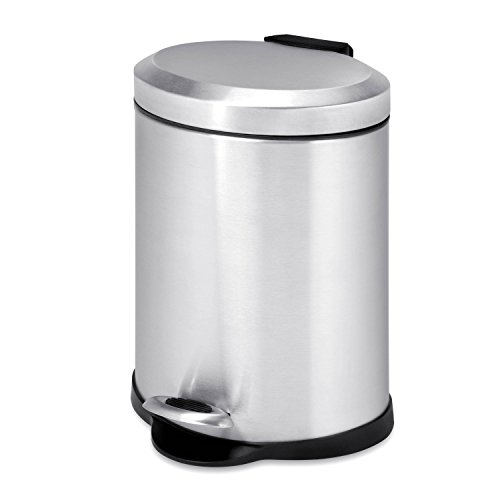 Honey-Can-Do TRS-01448 Oval Stainless Steel Step Can, -