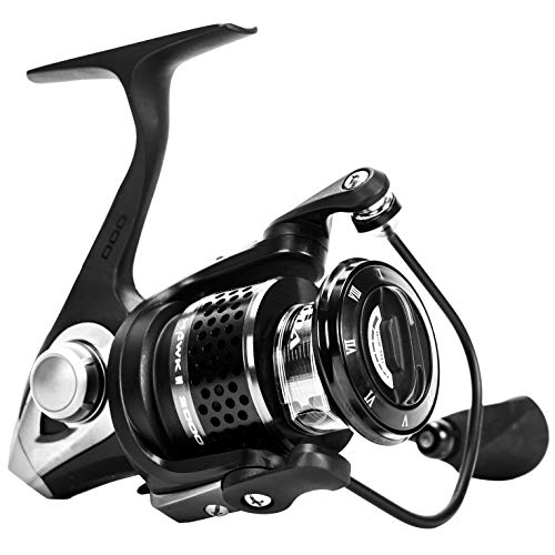 Ecooda 2018 Blackhawk II High-Strengthen Alu Body Spinning Fishing Reels Left Right Handle Salt Fresh Water Boat Rock Bass Fishing 1500 2000 3000 4000 4500 5000 10BB 1RB Bearing 5.1 1 Gear Ratio