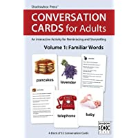 Conversation Cards for Adults, Familiar Words – Reminiscence Activity for Seniors / Alzheimer's / Dementia / Memory Loss Patients and Caregivers – 52 Cards