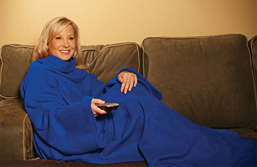 snuggie-soft-fleece-blanket-with-sleeves-and-pockets-solid-blue