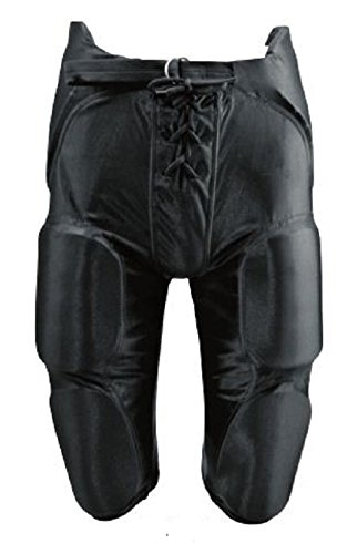 New Martin Adult Football Dazzle Game Pants w Integrated 7 Piece Pad Set Black (AL)
