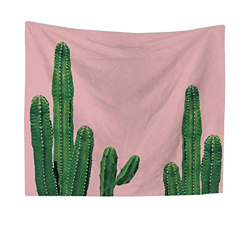 QEES Cactus Decor Tapestry Wall Hanging Decor Art Home Decoration Bedroom Living Room Dorm Wall Hangings Tapestries Beach Throw Table Runner Cloth GT11 (Cactus 1-S)