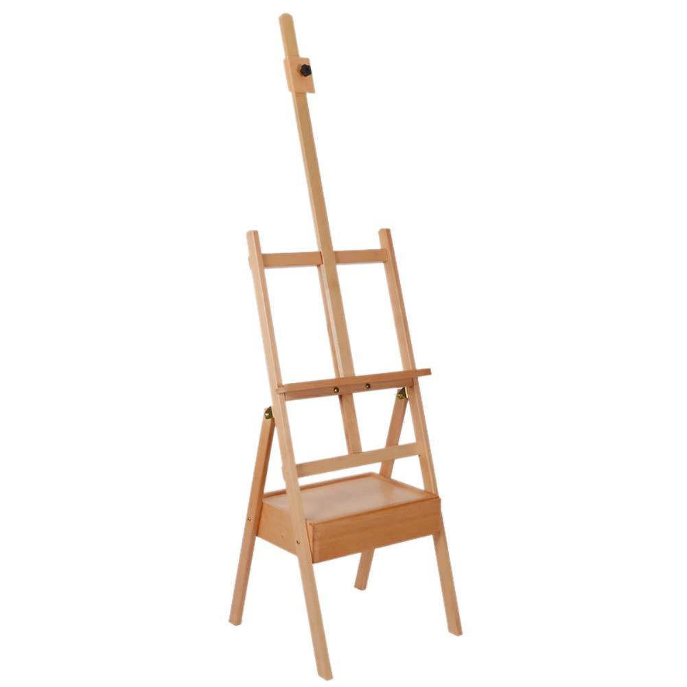 イーゼル 木のイーゼルの三脚のスタジオの愛好家の高さ調節可能、絵画、表示および設計のための分野のイーゼル   B07RTY9Z88