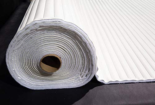 Pleated Marine Vinyl Upholstery Fabric Bright White 54'' Wide by 10 Yards Boat Auto by Bry-Tech Marine1 (Image #2)