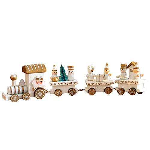 Gulin Adornos de Madera Lindos del Tren, Adornos para Regalos de Juguete Toy Kids, para la Fiesta de cumpleaños de Navidad...