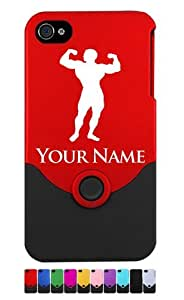 Engraved iPhone 4/4S Case/Cover - BODYBUILDER, MUSCLE MAN - Personalized for FREE (Send us an Amazon email after purchase with your engraving request)