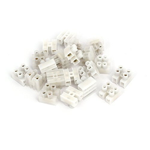 (uxcell 220V 2 Position H Type Screw Terminal Blocks Strips Wire Cable Connectors 20pcs)
