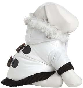 Aspen Winter-White Fashion Pet Parka Coat, Medium, Winter White