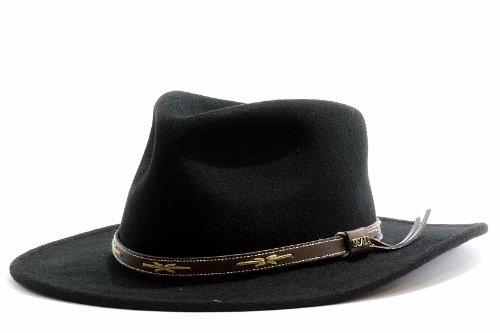 Scala Classico Men's Water Repellent Wool Felt Outback Hat (Medium, (Scala Classic Hat)