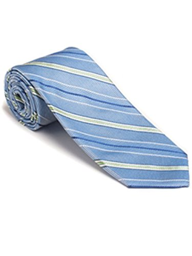 Robert Talbott Blue Stripe Summer Stripe Best of Class Tie by Robert Talbott