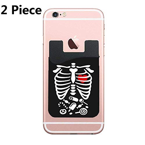 (Cusomcardphone Phone Pockets/Peel-and-Stick Card and Credit Card Holder Wallet for All Phones & Cases - iPhone/Galaxy and More (Scary Halloween XRay Costume Candy) - 2)