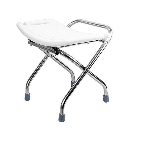 theBathMart Heavy-Duty Light Weight Folding Shower Chair Medical Bath Bench Bathtub Stool Seat