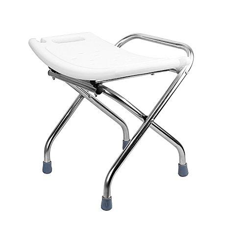 Ada Bathtub Seats (theBathMart Premium Heavy-Duty Light Weight Folding Shower Chair Medical Bath Bench Bathtub Stool Seat)
