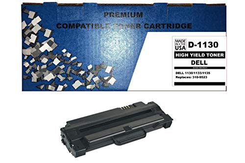 ALL CITY USA REMANUFACTURED Toner Cartridge Replacement for DELL 1130/1133/1135 (Black)